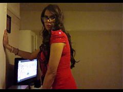 KaylaGirl80 - Crossdresser in Red Dress^5:53