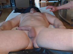 Me and a buddy milk hung bull massage prostate - post cum^22:21
