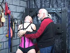 Lillith gets nipple torture with dom pinching and collar around her neck ^8:13